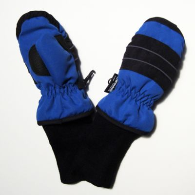 Toddler Ski Mittens with Extended Cuff in Blue