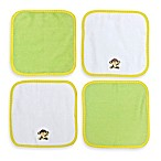 Neat Solutions® 4-Pack Washcloth Set in Happy Monkey