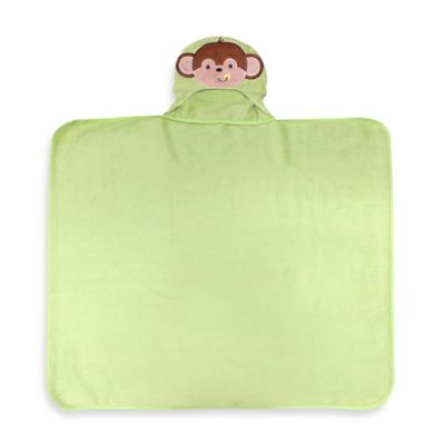 Neat Solutions® Happy Monkey Terry Hooded Bath Wrap