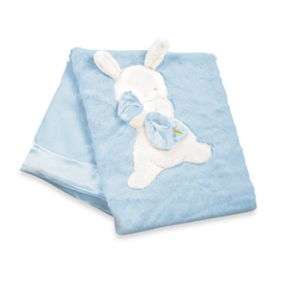 Bunnies by the Bay My Blankie Blanket in Blue