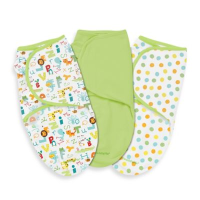 SwaddleMe® Small/Medium 3-Pack Adjustable Blankets in ABC Animals