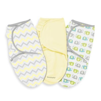 SwaddleMe® Large 3-Pack Adjustable Blankets in Chevron Splash