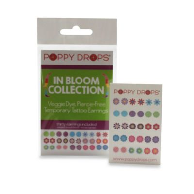 Poppy Drops® In Bloom Temporary Tattoo Earring Collection