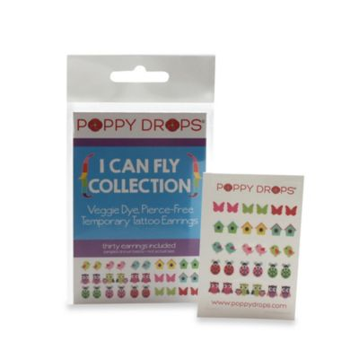 Poppy Drops® I Can Fly Temporary Tattoo Earring Collection