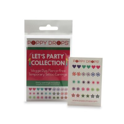 Poppy Drops® Let's Party Temporary Tattoo Earring Collection