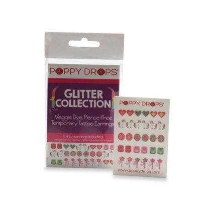 Poppy Drops® Glitter Temporary Tattoo Earring Collection