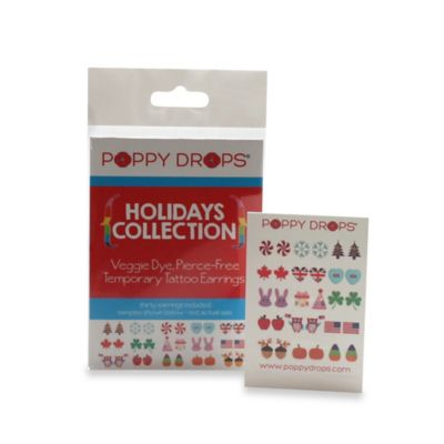 Poppy Drops® Holidays Island Temporary Tattoo Earring Collection