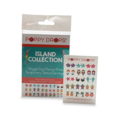 Poppy Drops® Island Temporary Tattoo Earring Collection