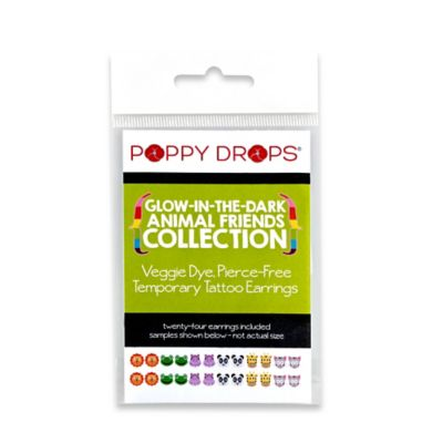Poppy Drops® Glow-In-The-Dark Temporary Tattoo Earring Collection