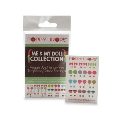 Poppy Drops® Me & My Doll Temporary Tattoo Earring Collection