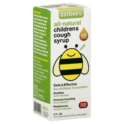 ZarBee's All-Natural Children's Honey Blend 4 oz. Cough Syrup in Natural Cherry Flavor