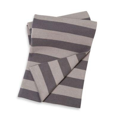 Baby Blankets > Sumersault Cotton Stroller Blanket in Grey Stripes