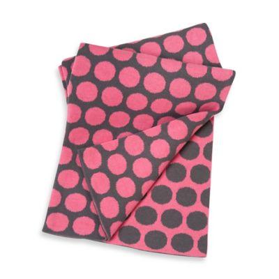 Baby Blankets > Sumersault Cotton Stroller Blanket in Grey/Pink Dots