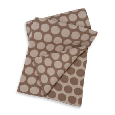 Sumersault Cotton Stroller Blanket in Taupe Dots