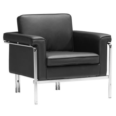 Zuo® Modern Singular Arm Chair in Black