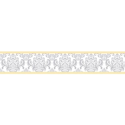 Sweet Jojo Designs Avery Wallpaper Border in Yellow/Grey