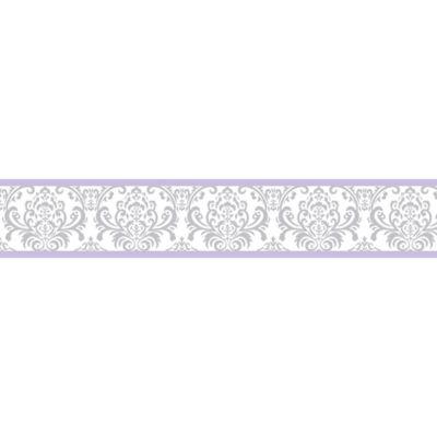 Sweet Jojo Designs Elizabeth Wallpaper Border in Lavender and Grey