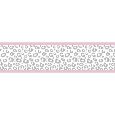 Sweet Jojo Designs Kenya Wallpaper Border in Pink and Grey
