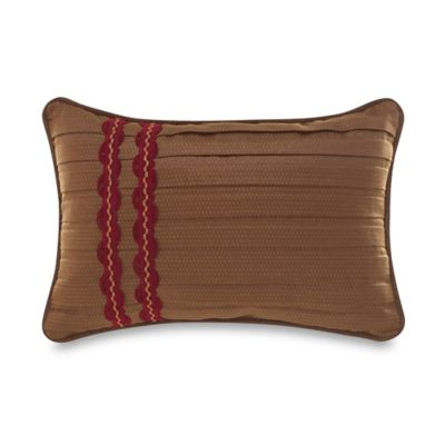 Croscill® Ryland Reversible Boudoir Throw Pillow in Red