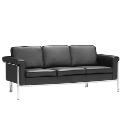 Zuo® Modern Singular Sofa in Black