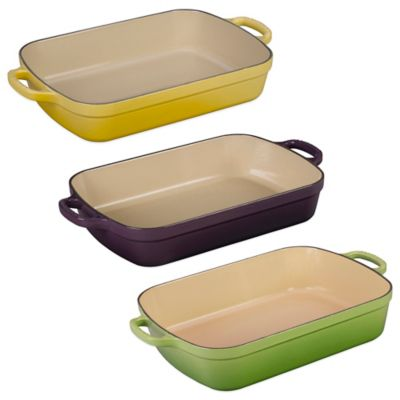 Le Creuset® Signature 3 qt. Rectangular Roaster in Dune