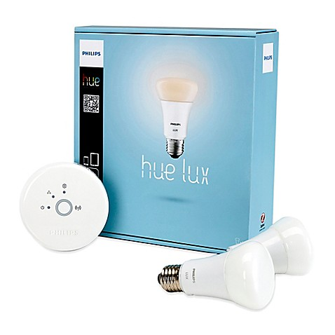 buy philips hue lux bulb starter kit from bed bath beyond. Black Bedroom Furniture Sets. Home Design Ideas