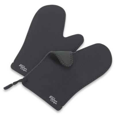 Duncan's Kitchen Grips 2-Piece Oven Mitt Set in Black