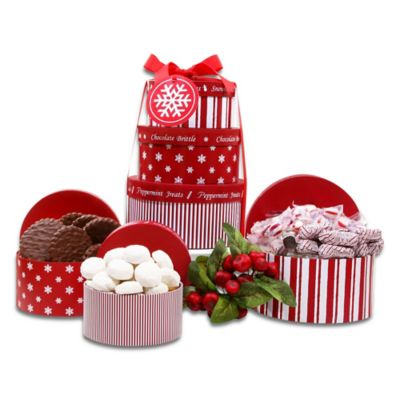 Holiday Peppermint Gift Tower by Alder Creek Gift Baskets