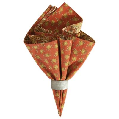 Orange Red Reversible Napkin