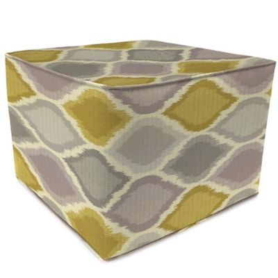 Outdoor Square Pouf Ottoman in Sunbrella® Empire Dawn