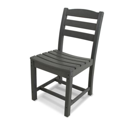 POLYWOOD® La Casa Dining Side Chair in Grey