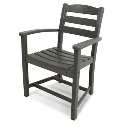 POLYWOOD® La Casa Dining Arm Chair in Grey