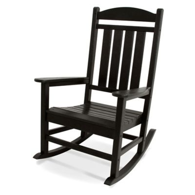 POLYWOOD® Presidential Rocker in Black