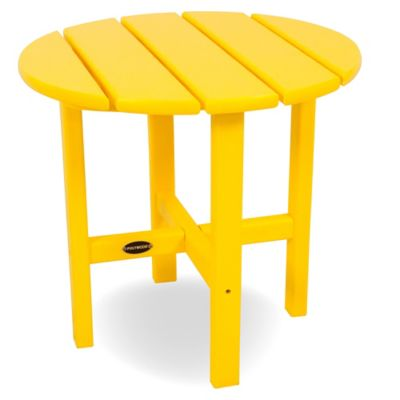 POLYWOOD® 18-Inch Round Side Table in Lemon