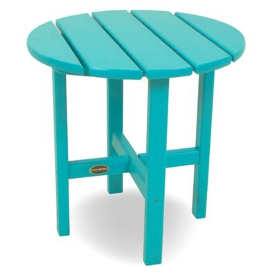 POLYWOOD® 18-Inch Round Side Table in Pacific Blue