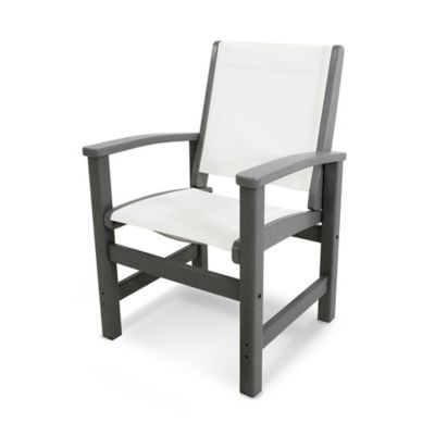 POLYWOOD® Coastal Dining Chair in Slate Grey/White