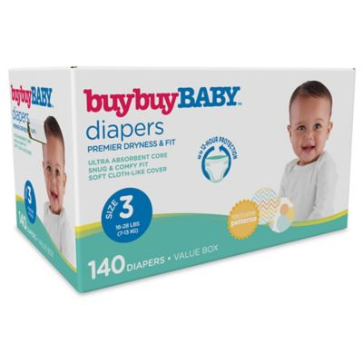 buybuyBABY™ 140-Count Size 3 Box Diapers