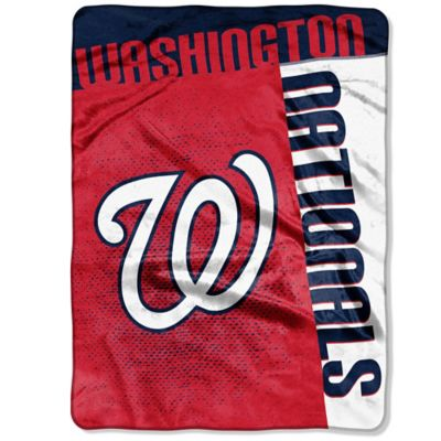 MLB Washington Nationals Strike Raschel Oversized Throw Blanket