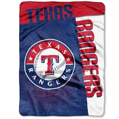 MLB Texas Rangers Strike Raschel Oversized Throw Blanket