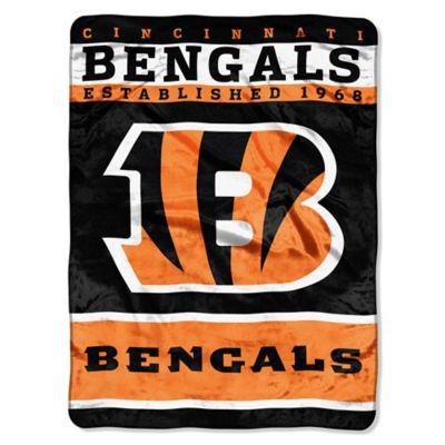 NFL Cincinnati Bengals Strike Raschel Oversized Throw Blanket