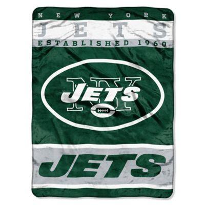 NFL New York Jets Strike Raschel Oversized Throw Blanket