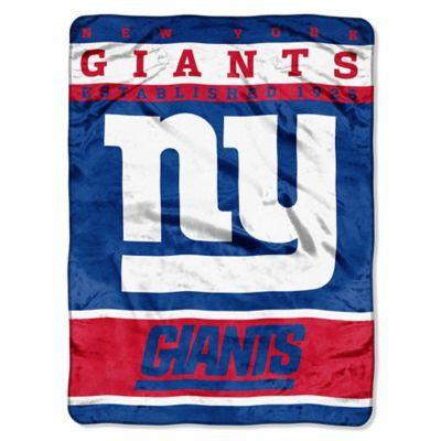 NFL New York Giants Strike Raschel Oversized Throw Blanket