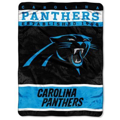 NFL Carolina Panthers Strike Raschel Oversized Throw Blanket