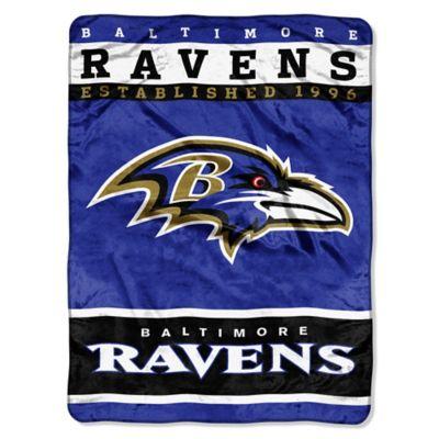 NFL Baltimore Ravens Strike Raschel Oversized Throw Blanket