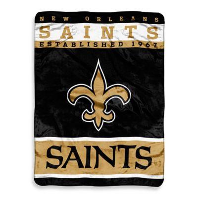 NFL New Orleans Saints Strike Raschel Oversized Throw Blanket
