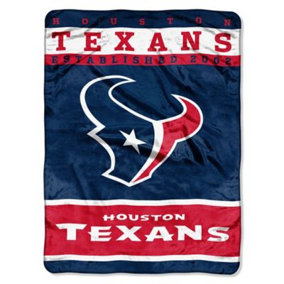 NFL Houston Texans Strike Raschel Oversized Throw Blanket