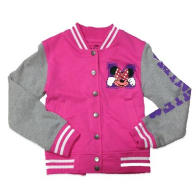 Disney® Minnie Mouse Girls Size 8/10 Varsity Sweatshirt