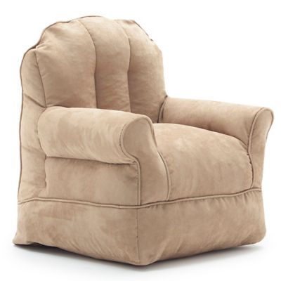 Comfort Research Big Joe Bubs Microsuede Bean Bag Armchair in Camel