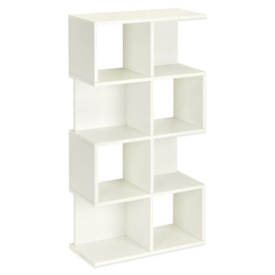 Way Basics 4 Shelf Malibu Storage and Bookcase in White