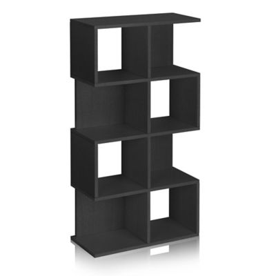 Way Basics 4 Shelf Malibu Storage in Black